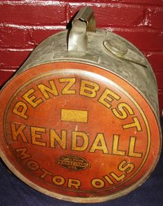 vintage motor oil cans - Google Search