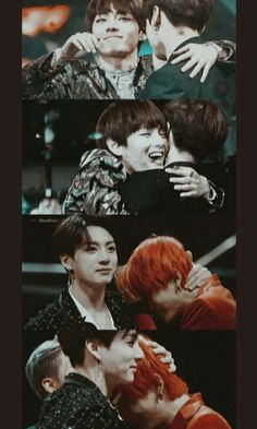 Awww kook is there for Tae for what ever emotion he is going through Namjoon, Seokjin, Bts Taehyung, Bts Bangtan Boy, Jimin, Taekook, V Bts Cute, I Love Bts, Foto Bts