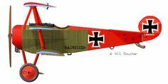 Fokker Dr.I Jasta 11 Manfred von Richthofen serial number 127/17 - 1917