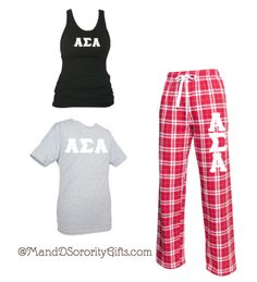 Alpha Sigma Alpha Pajama Pants, Classic Plaid