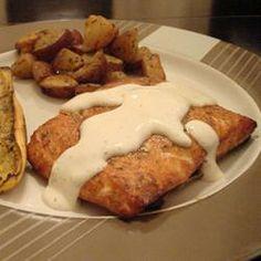 Saumon sur planche de cèdre @ qc.allrecipes.ca