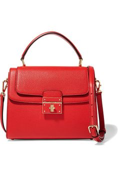 Red textured-leather (Calf) Twist lock-fastening front flap Weighs approximately 3.3lbs/ 1.5kg  Made in Italy