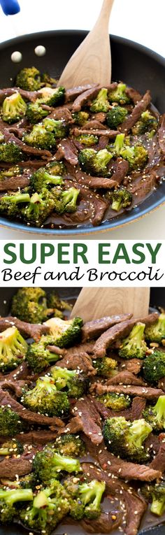 Super Easy 20 Minute Beef and Broccoli. So much easier and healthier than…