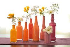 12 ideias para decorar garrafas para mesas - Amando Cozinhar - Receitas, dicas…
