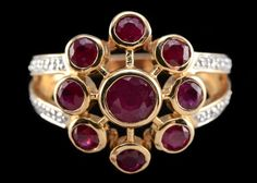 14K%20Yellow%20Gold%20Lead%20Filled%20Ruby%20and%20Diamond%20Ring