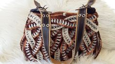 """#DY#Tutorial, Como hacer una bolsa con anillas de lata: Bolsa """"VIRGI"""" 1º..."""