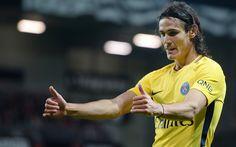 Download imagens Edinson Cavani, 4k, partida do PSG, jogadores de futebol, futebol, Ligue 1, O Paris Saint-Germain, Liga 1