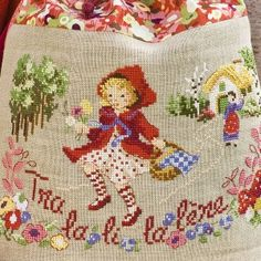 Little Red Riding Hood, french embroidery design.