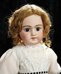 "Soirée: A Marquis Cataloged Auction of Antique Dolls and Automata - May 14, 2016: Lot 229. Pretty French Bisque Bebe ""Dep"", Size 14, with Closed Mouth"