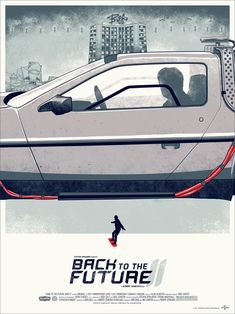 Back to the future 2 poster by Phantom City Creative