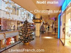 """""""Noël malin"""" isn't an expression about celebrating #Christmas so much as it is an appeal to shopper vanity. #learnfrench #lawlessfrench #french"""