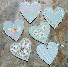 Glutton for punishment - a Art/Craft Exhibition plus a Craft Fair booked for August, both running at the same time. Heart Crafts, Rock Crafts, Arts And Crafts, Tole Painting Patterns, Little Acorns, Boat Art, Frame Crafts, Wooden Wall Art, Dot Painting
