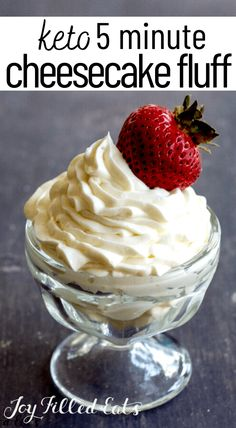 All you need is 3 ingredients and about five minutes to make some incredible Keto Cheesecake Fluff. It's creamy and is the best sweet dessert to complete your dinner table. Add your favorite berries on top and enjoy this delicious cheesecake mousse. It's low carb, gluten-free, and grain-free too.