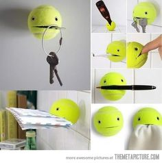 Don't throw away your old tennis balls…