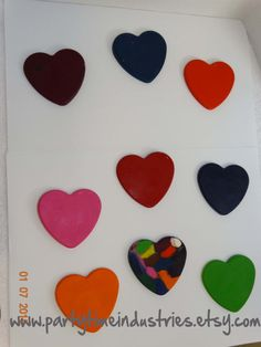 Heart Shaped Crayons by PartyTimeIndustries on Etsy