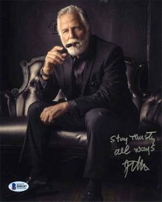 Jonathan Goldsmith 'Most Interesting Man in the World' Signed 8x10 Photo Certified Authentic Beckett BAS COA
