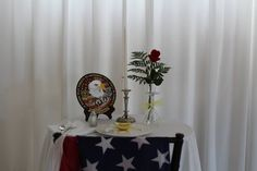 Sherri and Mike- fallen soldier table