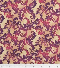 Susan Winget Quilt Fabric-Provence Bordeaux Leaf Scroll : premium quilting fabric : quilting fabric & kits : fabric :  Shop | Joann.com