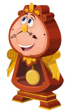 Cogsworth [Beauty and the Beast] Beauty And Beast Birthday, Beauty And The Beast Party, Disney Beauty And The Beast, Walt Disney Characters, Cartoon Characters, Disney Sidekicks, Cogsworth Clock, Pet Rocks, Art Party