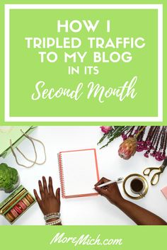 I tripled traffic to my blog in its second month using these incredible enhancement tools and resources. Here's how I did it! How I Tripled Traffic article.