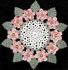 CROCHET DOILY FREE PATTERN ROSE | FREE PATTERNS