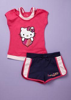 Fuchsia Hello Kitty Short Set