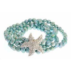Blue Freshwater Pearl Starfish Bracelet