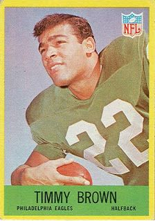 Here are your 1967 Philadelphia Eagles. Two of these players were gone before the 1967 season. I got the Timmy Brown and Earl Gros cards a . Football Trading Cards, Football Cards, Football Players, Baseball Cards, Fly Eagles Fly, Football 101, Cleveland Browns Football, Philadelphia Sports