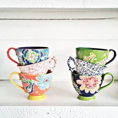 Bellina Blooms Mug #Anthropologie #MyAnthroPhoto
