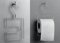 Toilet paper holder from a wire hanger. Toilet paper holder, upcycling from a . Toilet paper holder from a wire hanger. Toilet paper holder, upcycling from a wire hanger Source by ameeliak Diy Toilet Paper Holder, Paper Roll Holders, Wire Coat Hangers, Metal Hangers, Diy Projects To Try, Repurposed, Home Improvement, Household, Organization