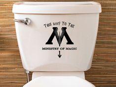 Harry Potter inspiriert Ministry Of Magic WC Aufkleber - Vinyl Aufkleber