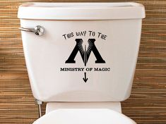 Harry Potter Inspired Ministry Of Magic Toilet Sticker - Vinyl Decal
