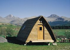 I will soon be inhabiting one of these Wigwams on the West Highland Way!