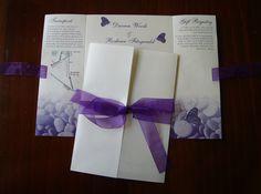 Wedding Invite - Chic Design www.chicdesign.co.nz Cadbury Purple