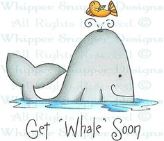 Get Whale Soon - Get Well - Rubber Stamps - Shop