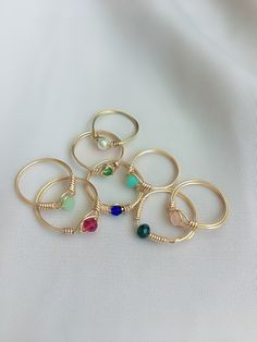 Diy Wire Jewelry Rings, Wire Jewelry Designs, Handmade Wire Jewelry, Hand Jewelry, Cute Jewelry, Beaded Jewelry, Jewelery, Jewelry Making, Accesorios Casual