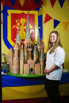 AMAZING CASTLE CAKE!!! Medieval Knight Castle birthday party with Such Awesome Ideas via Kara's Party Ideas | KarasPartyIdeas.com - The Place For All Things Party ...