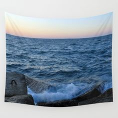 Available in three distinct sizes, our Wall Tapestries are made of 100% lightweight polyester with hand-sewn finished edges. Featuring vivid colors and crisp lines, these highly unique and versatile tapestries are durable enough for both indoor and outdoor use. Machine washable for outdoor enthusiasts, with cold water on gentle cycle using mild detergent - tumble dry with low heat.beach, water, splash, ocean, sea, blue, rocks, photo, landscape, photography, digital, photograph, nature…