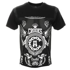 Crooks And Castles Black Order Football T Shirt   - that should be mine!
