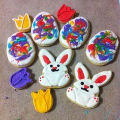 Easter cookies bunny cookie egg cookies abstract