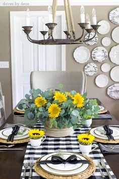 Tall tablescape with