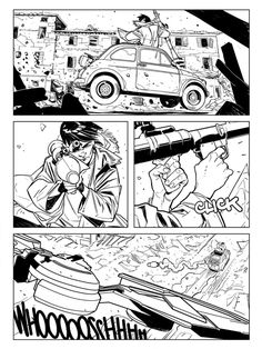 Ringo Gianfelice Lucca 2014 by DavideGianfelice Comic Book Layout, Comic Book Pages, Comic Book Artists, Comic Books Art, Comic Art, Black And White Comics, Black Comics, Bd Comics, Comic Frame