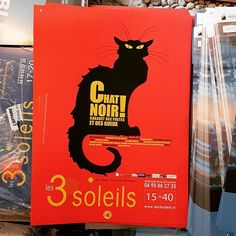 Affiche du #spectacle Le Chat Noir au #théâtre des 3 Soleils à #avignon pendant le #festival @avignonleoff #avignonleoff