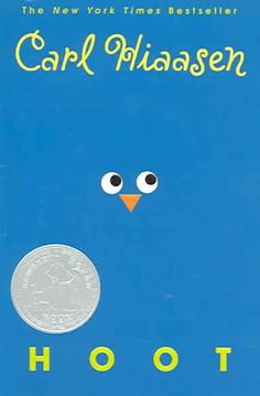 Hoot by Carl Hiaasen. Roy, who is new to his small Florida community, becomes involved in another boy's attempt to save a colony of burrowing owls from a proposed construction site.
