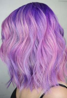 55 Dreamy Lilac Hair Color Ideas: Lilac Hair Dye Tips Lilac Hair Color Shades: Lilac Hair Dye Tips Lilac Hair Dye, Bright Purple Hair, Pink Ombre Hair, Hair Color Purple, Green Hair, Cute Hair Colors, Hair Dye Colors, Cool Hair Color, Dyed Tips