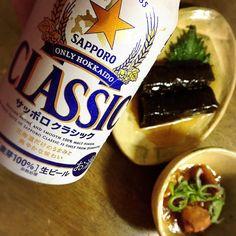 #サッポロビール  #サッポロクラシック  #缶詰 #缶詰おつまみ #焼き鳥 #昆布巻き#晩酌  昨日はクラシックを飲みました やはりビールはこれが一番好きだなぁ