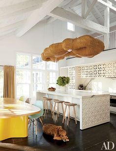 India Mahdavi designs a gorgeous country house in Connecticut. Pictured is the home's kitchen.