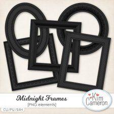 Midnight Frames #CUdigitals cudigitals.com cu commercial digital scrap #digiscrap scrapbook graphics