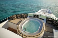 Hot Tub - TOP FIVE Yacht Charter, rent today for the day, week, or month!
