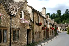 Castle Combe in Wiltshire England (Cotswold village)